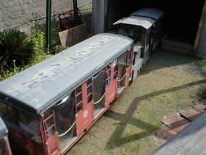 鹿児島県いちき串木野市下名、薩摩金山蔵(旧「ゴールドパーク串木野」)トロッコ列車。