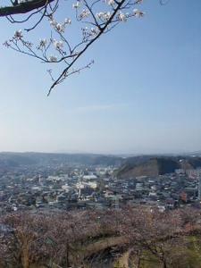 鹿児島県鹿児島市長田町、夏蔭公園(夏蔭城跡)からの眺め。